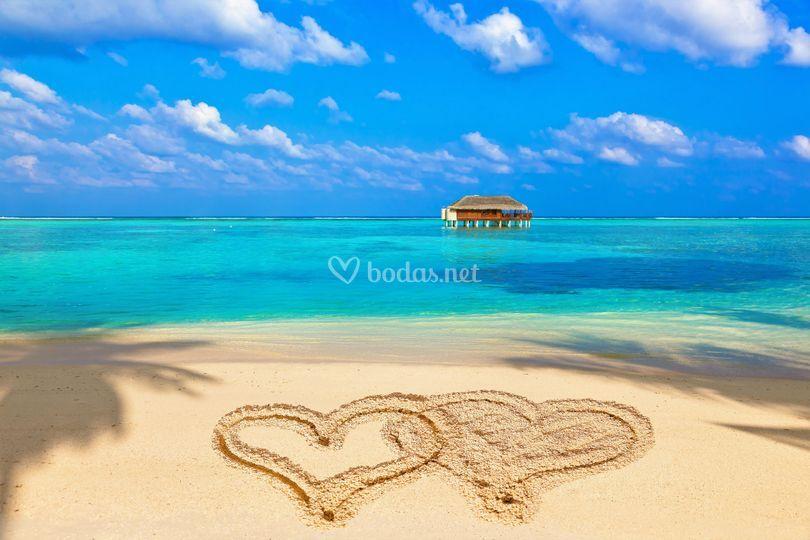 El paraíso en Maldivas