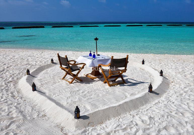 Desayuno en la playa
