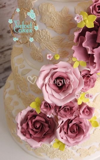 Tarta de boda fondant