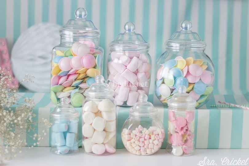 Tarros de plástico candy bar