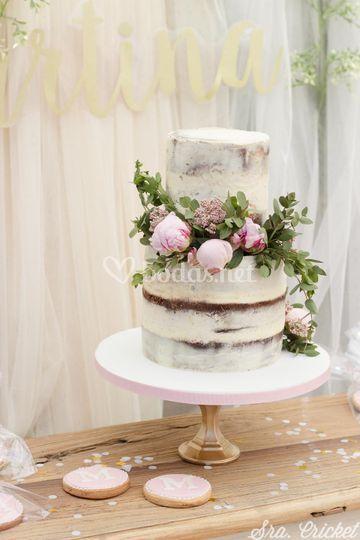 Tarta naked cake decoración
