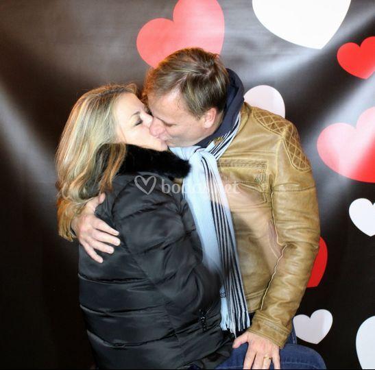 Beso y foto
