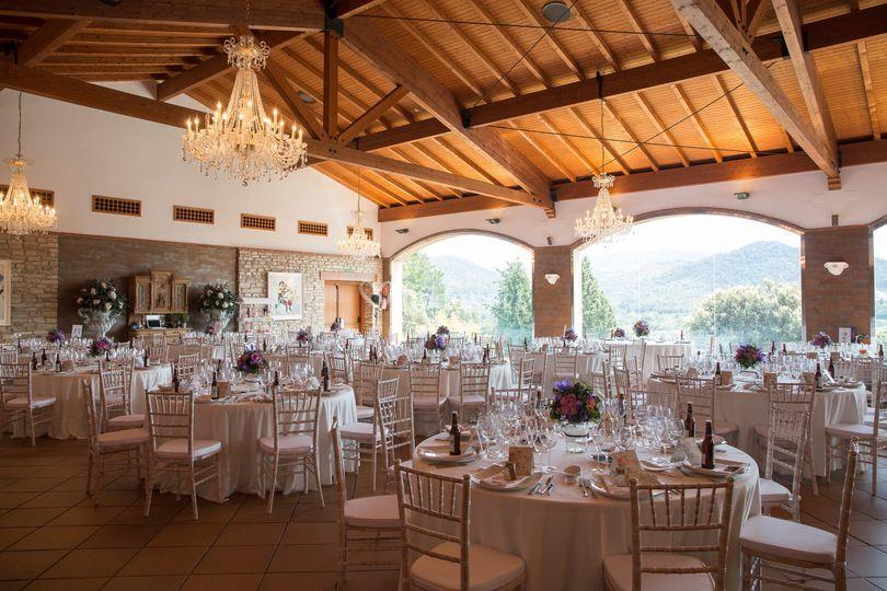 Banquete interior con vistas
