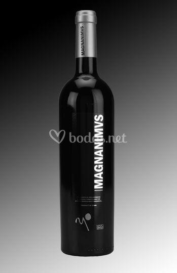 Botella de vino platino