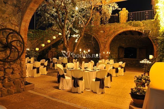 Banquete en el patio