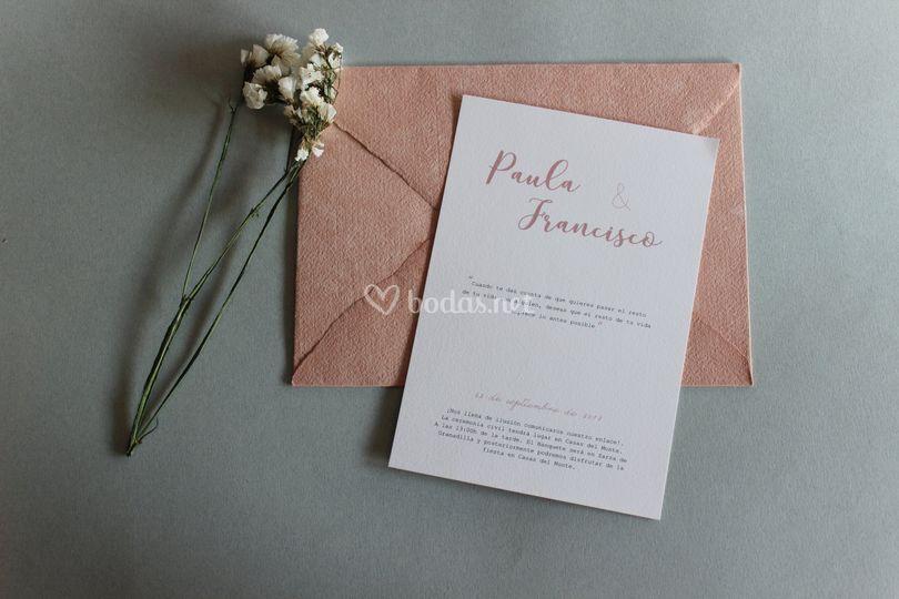 Invitación Julieta