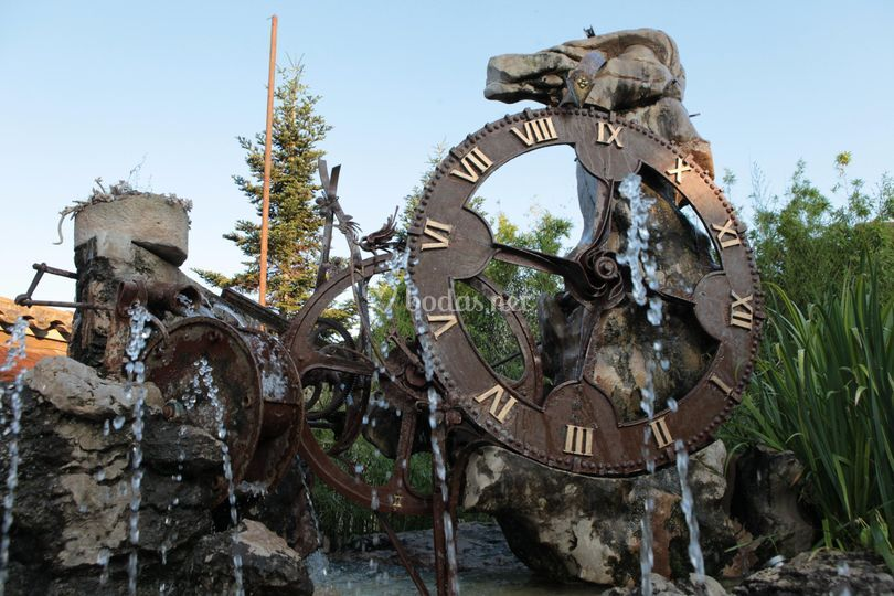 Un original reloj de agua