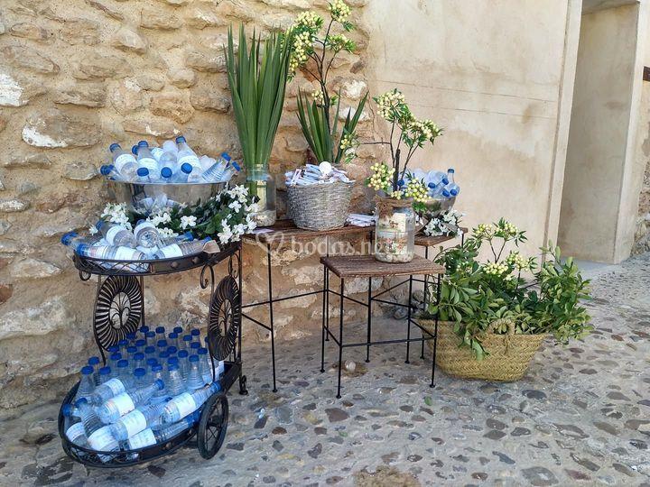 Rincón agua para invitados