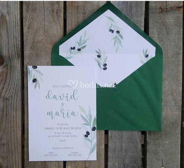 Invitación olivo
