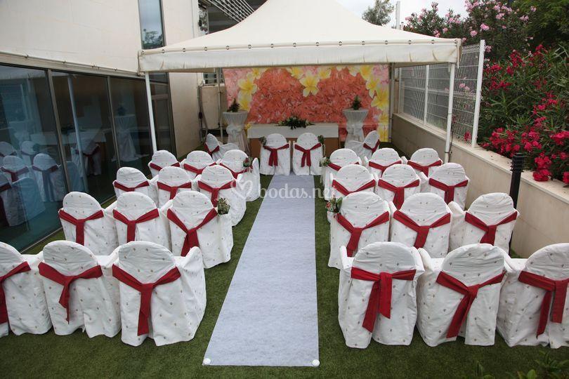 Ceremonia civil en terraza