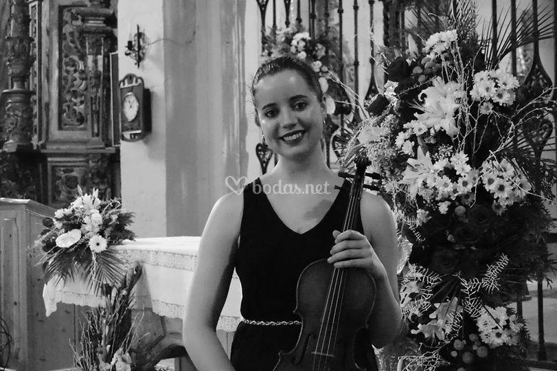 Boda en Saldaña, violinista