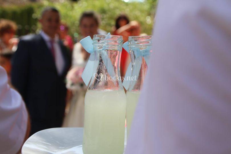 Detalle bienvenida limonada