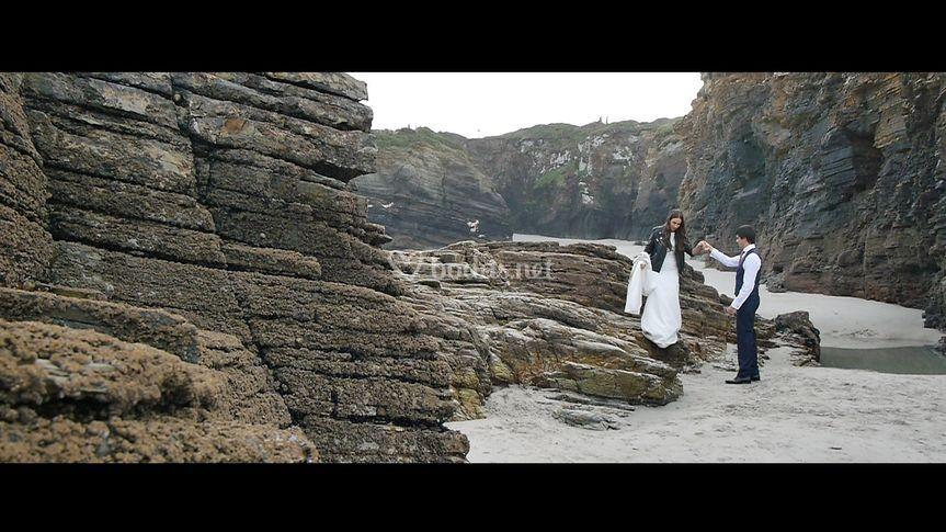 Postboda Playa Las Catedrales