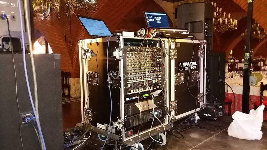 Amplio equipo de sonido