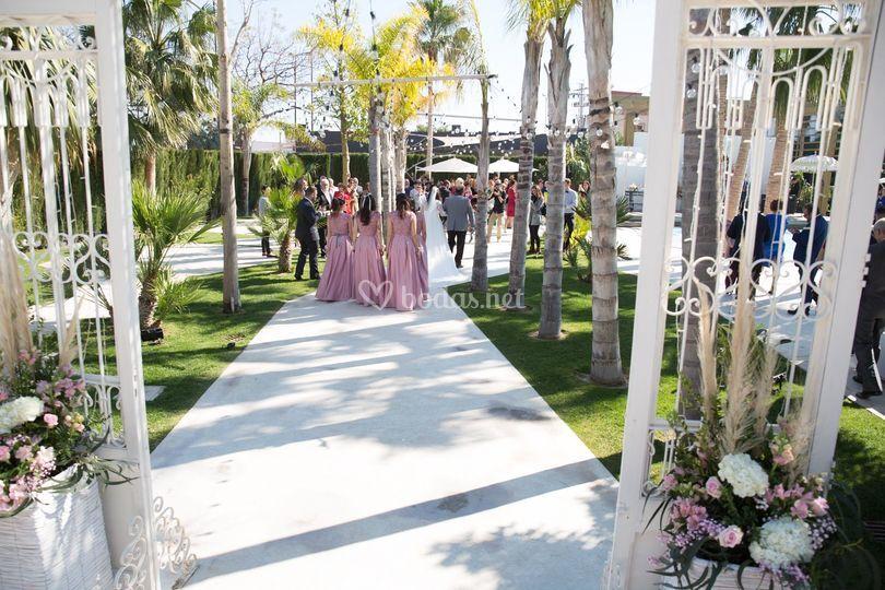 Ceremonia en el jardín Lleveig