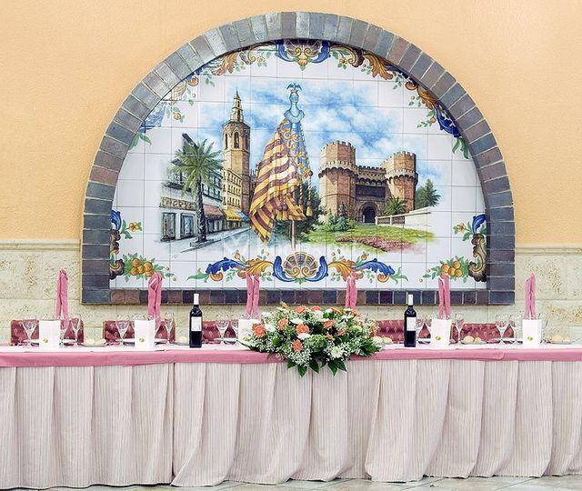 Detalle mesa presidencial