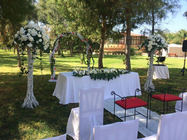 Ceremonia con arco
