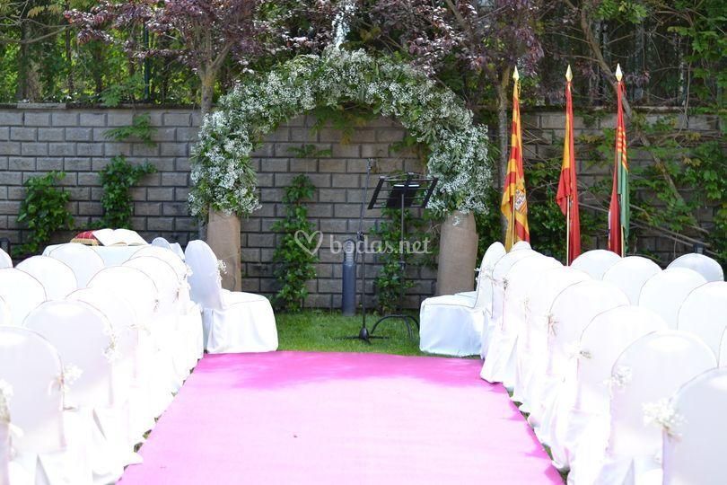 Ceremonia en el jardín villavirginia