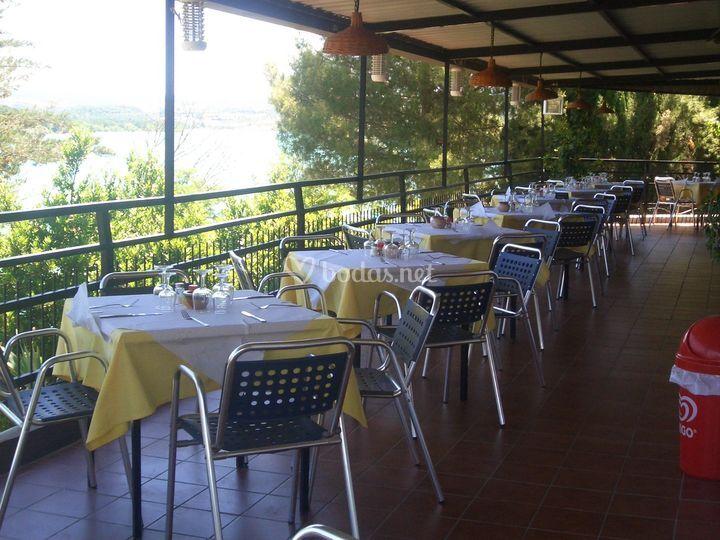 Terraza restaurante con vistas
