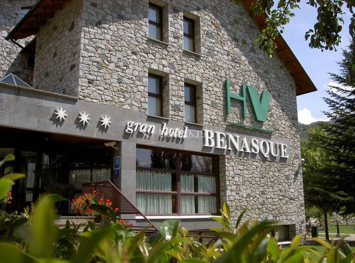 Fachada Gran Hotel Benasque