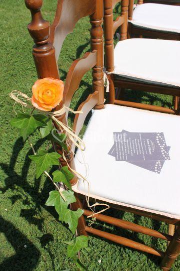 Deco sillas invitados