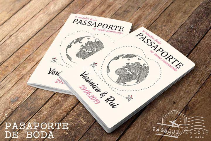 Invitación 'Pasaporte boda'