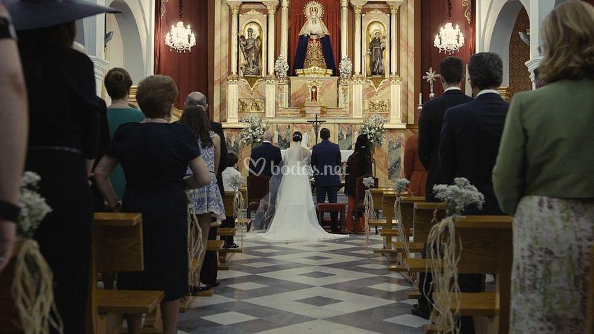 Toma en movimiento en la Iglesia