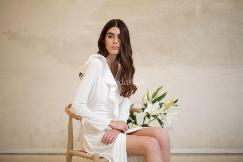 Vestido de punto de seda