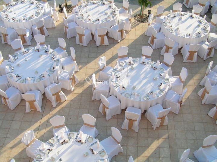 Banquete en exteriores