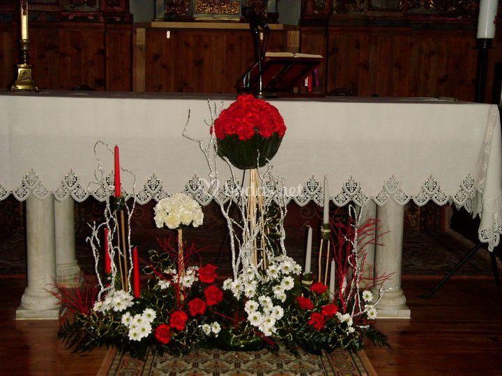Decoración para boda religiosa