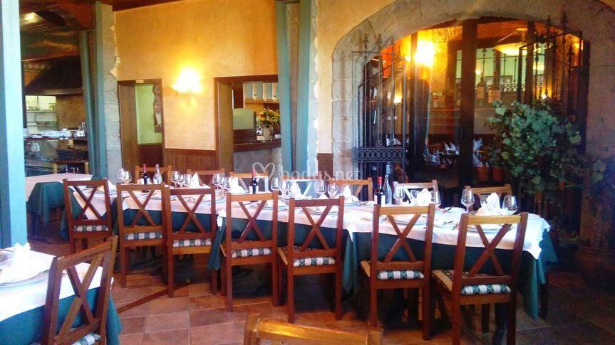 Acogedor salón para cena
