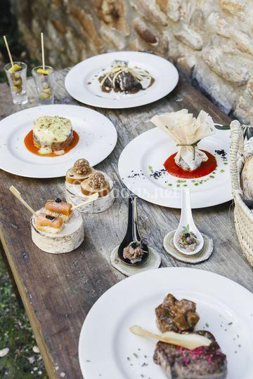 Selección platos menús bodas