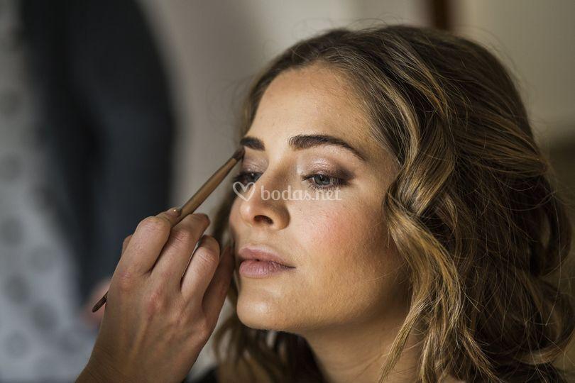 Alejandro & Celia: maquillada