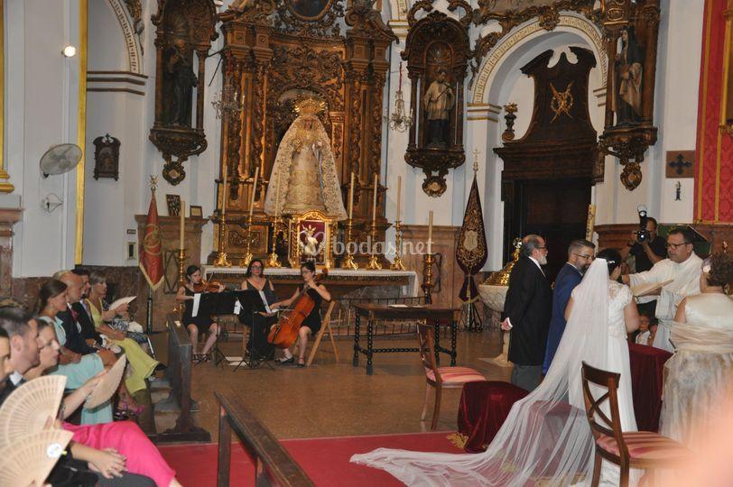 Recital en ceremonia religiosa