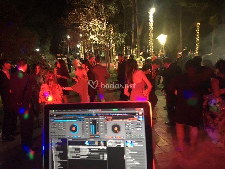 Durante una fiesta
