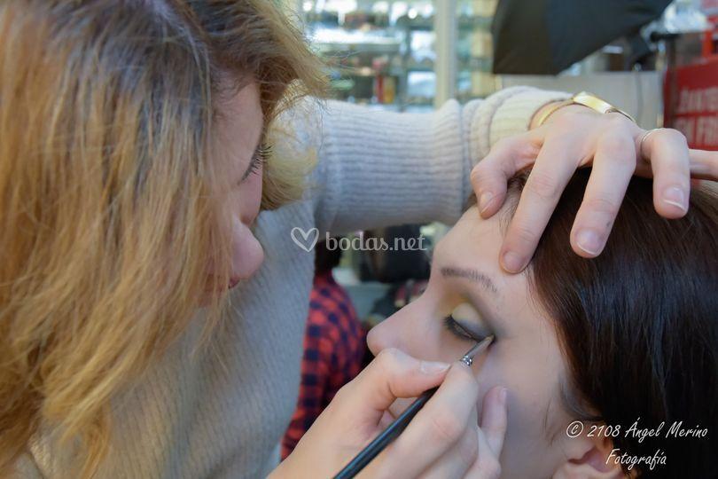Proceso maquillaje