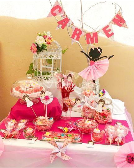 Mesa dulce bailarina