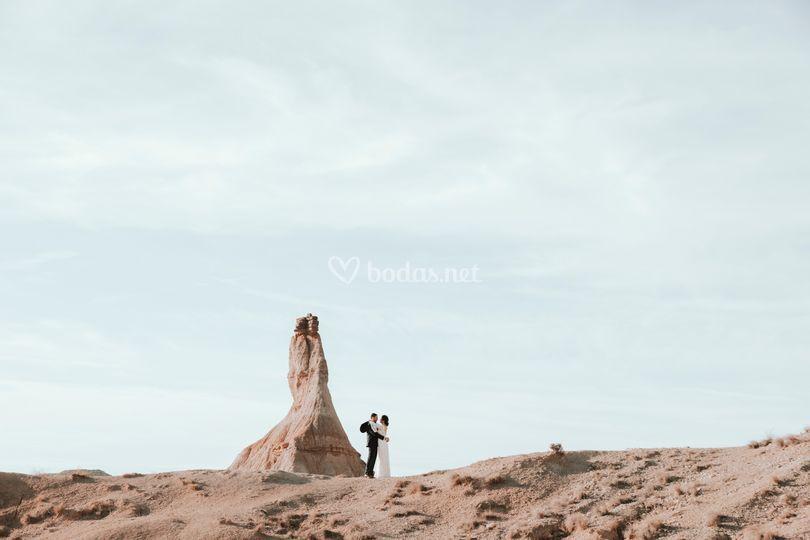 Postboda en el desierto