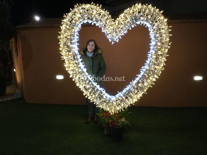 Photocall iluminado para invitados
