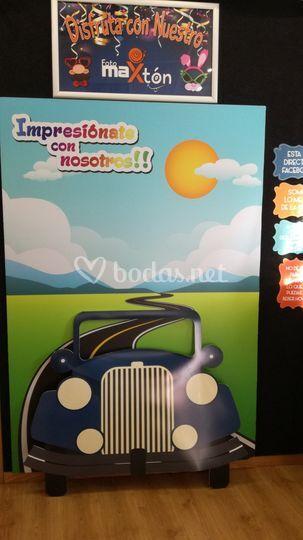Photocall móvil coche