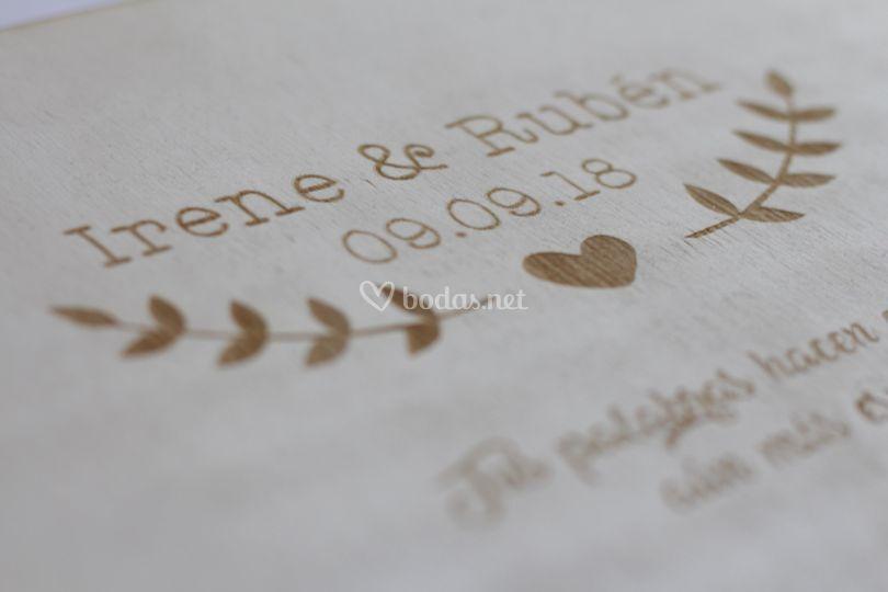 Grabado del libro de firmas