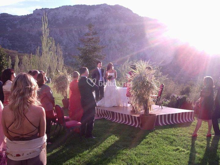 Ceremonia en Fuerte Grazalema