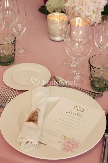 Detalles para mesa de bodas