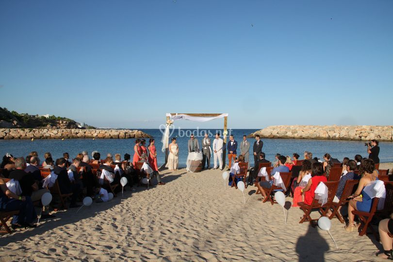 Ceremonia boda en la playa