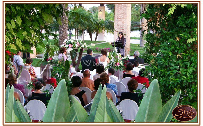 Ceremonia en nuestros jardines