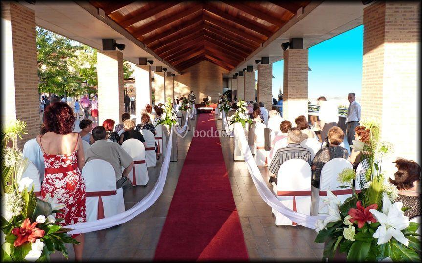 Ceremonia pérgola de madera