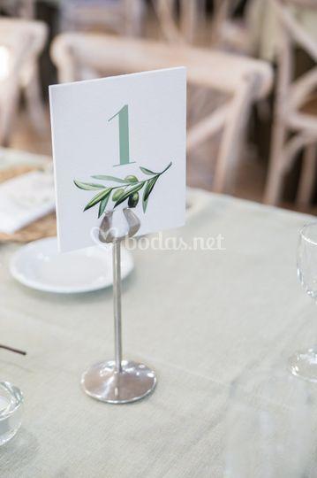 Número d ela mesa