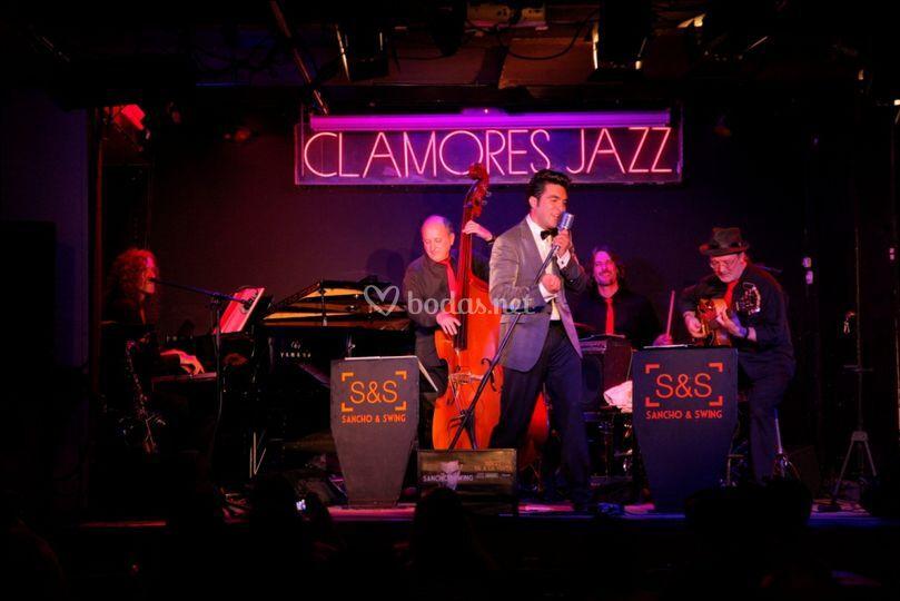 El jazz y el swing de la mano