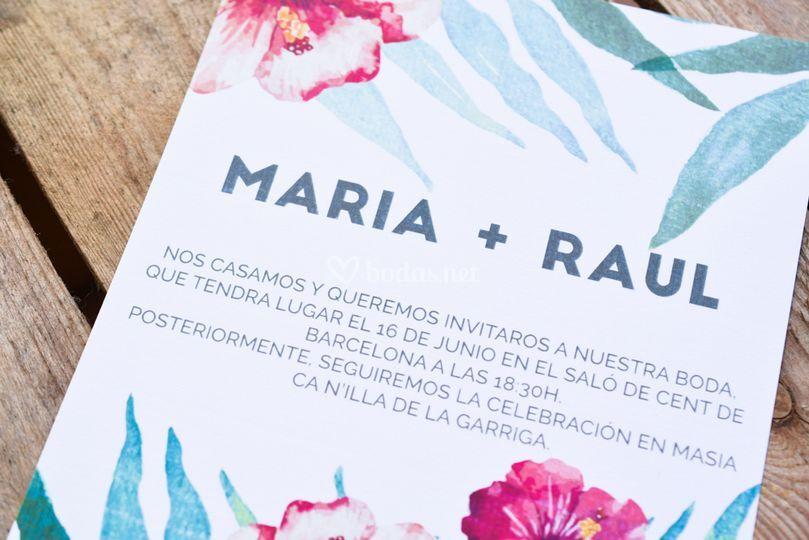 Invitación de boda para novios