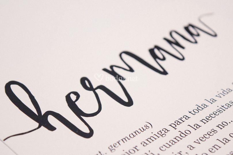 Letra personalizada para invitaciones